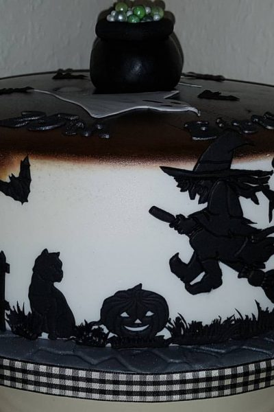 Halloween Witches Custom Cake Southampton