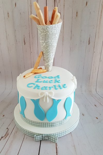 Fish and Chips Custom Cake Southampton