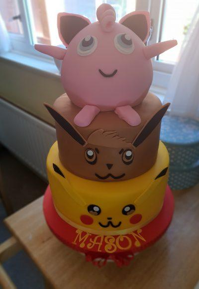 Pokemon Pikachu Jigglypuff Custom Cake Southampton