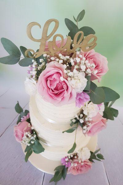 Floral Wedding Cake - Dotti Cake Company