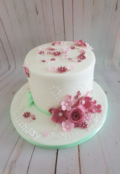 Floral Sugar Craft Flowers Cake Southampton