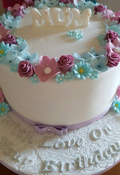 Mum floral Custom Cake Southampton