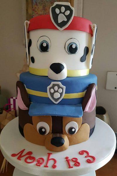 Paw Patrol 3rd Birthday Custom Cake Southampton