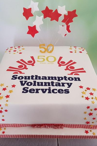 Southampton Voluntary Services 50th Anniversary Custom Cake Southampton