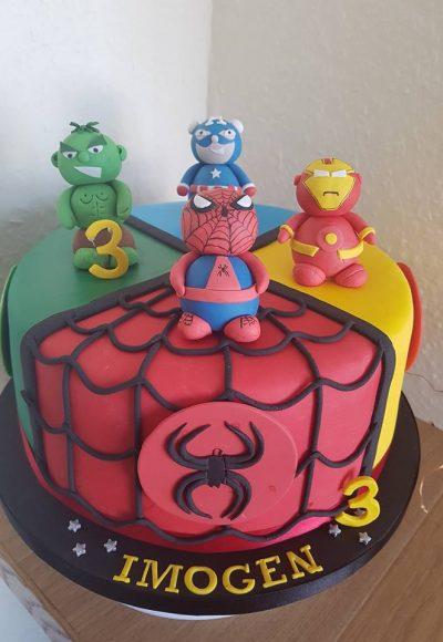 Avengers Spiderman Iron Man Captain America Incredible Hulk Custom Cake Southampton