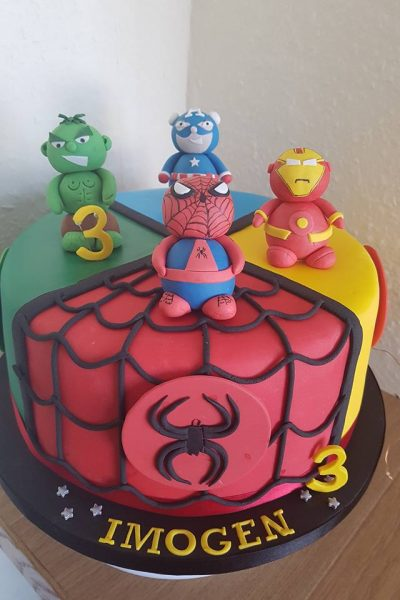 Avengers Spiderman Iron Man Captain America Incredible Hulk Custom Cake Southampton