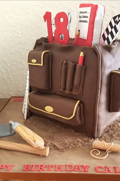 18th Birthday Backpack Custom Cake Southampton