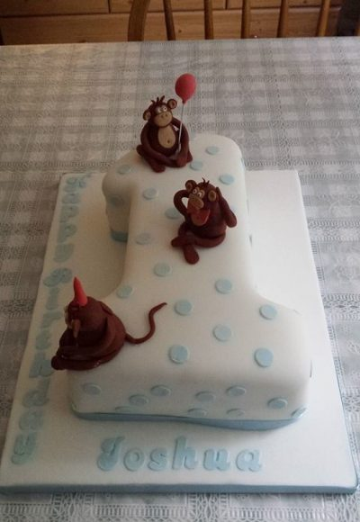 1st Birthday Monkey Custom Cake Southampton