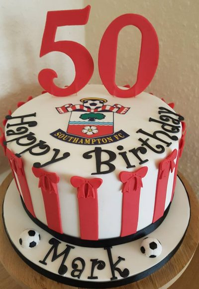 50th Birthday Southampton FC Saints Custom Cake Southampton