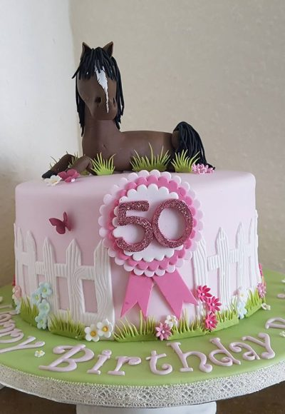 Horse 50th Birthday Custom Cake Southampton