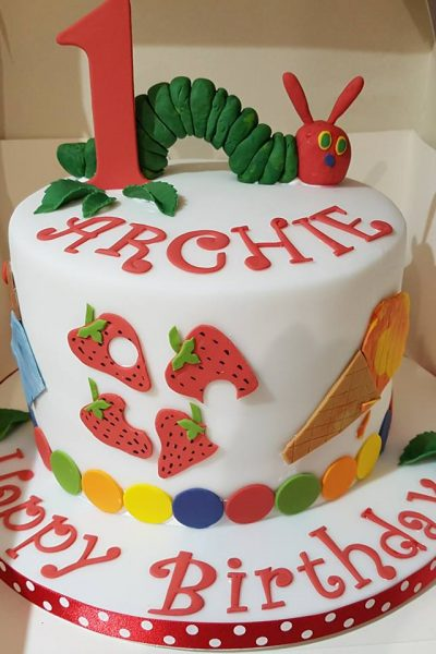 1st Birthday Hungry Caterpillar Custom Cake Southampton