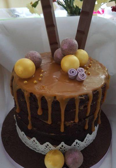 Chocolate Drizzle Custom Cake Southampton