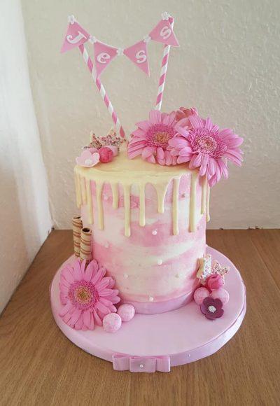 Pink Drizzle Custom Cake Southampton