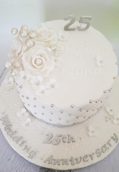 25th Wedding Anniversary Custom Cake Southampton